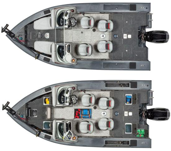 Катер Tracker Targa V-18 вид сверху